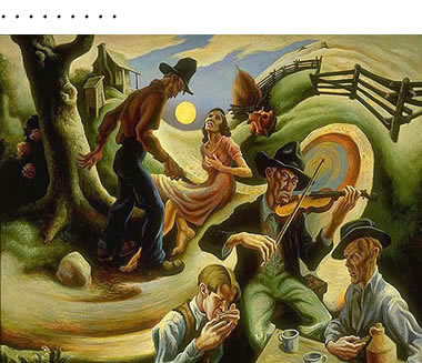 Thomas Hart Benton: Ballad of the Jealous Lover of Lone Green Valley